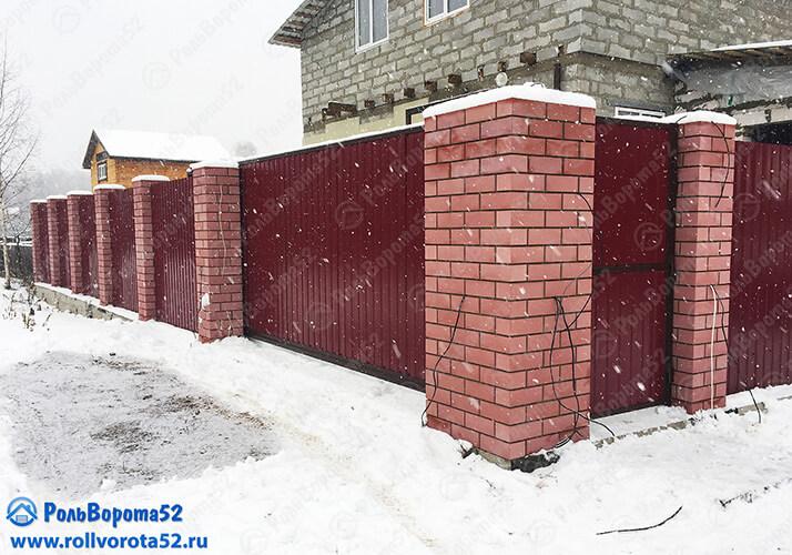 24 Откатные ворота с автоматикой Профлист Нижний Новгород